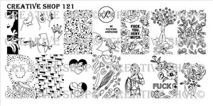 Creative Shop stamping plate 121