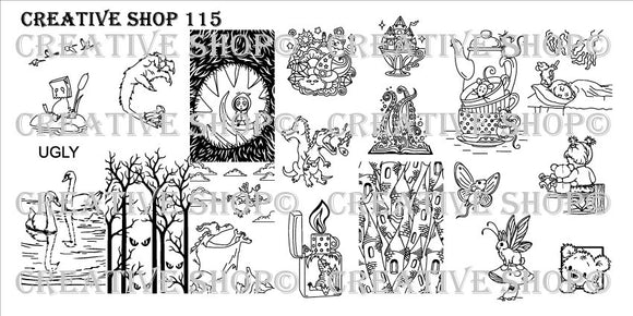 Creative Shop stamping plates 113 - 117