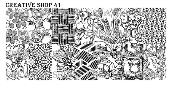 Creative Shop stamping plate 41
