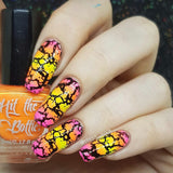 """Shazam Yellow"" stamping polish"