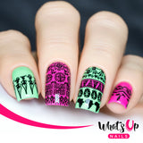Whats Up Nails - A006  A Walk on the Wild Side stamping plate