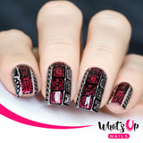 Whats Up Nails - A007 - Aztec Countdown stamping plate