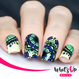 Whats Up Nails - A008 - Mandala Blossoms stamping plate