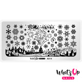 Whats Up Nails - A014 - Holiday Snowfall stamping plate