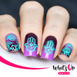 Whats Up Nails - A018 Spirits of Hamsa stamping plate