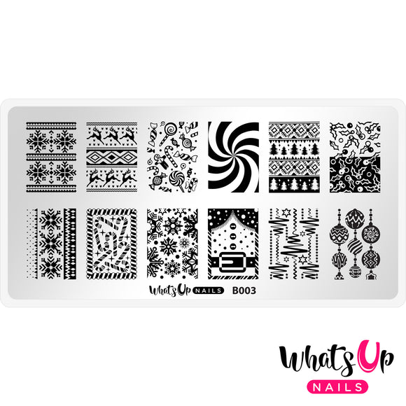 Whats Up Nails - Sweater Weather stamping plate B003