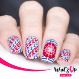 Whats Up Nails - B020 Take me to the Sea stamping plate