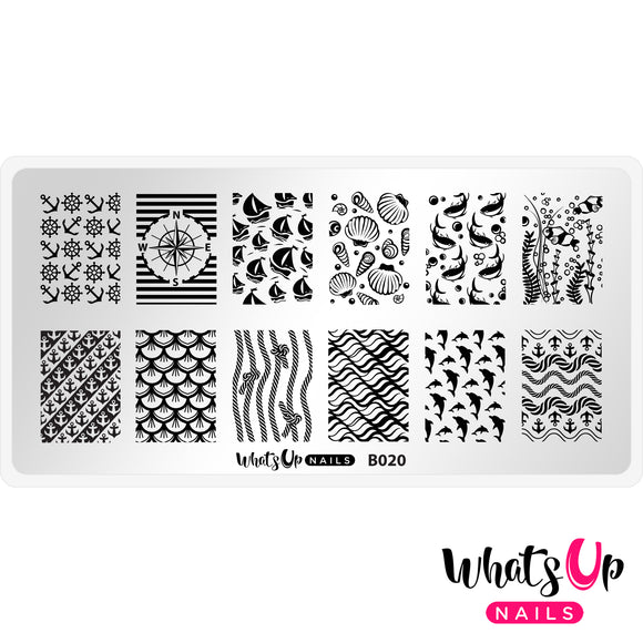 Whats Up Nails - Take me to the Sea stamping plate B020