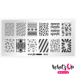 Whats Up Nails - B022 Winter Time stamping plate