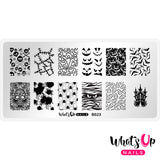 Whats Up Nails - B023 Creepin it Real stamping plate