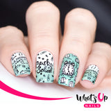 Whats Up Nails - School's in Session stamping plate B030