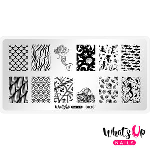 Whats Up Nails - B038 Lost at Sea stamping plate