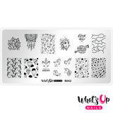 Whats Up Nails - B042 Head in the Clouds stamping plate