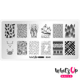 Whats Up Nails - B049 - Hot Chocolate Season stamping plate