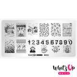 Whats Up Nails - B050 Count on Me stamping plate
