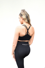 Midnight Seamless Sports Bra - Black - Midnight Fit