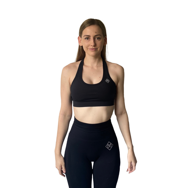 Basix Halter Crop - Black - Midnight Fit