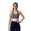 Basix Halter Crop - Grey - Midnight Fit