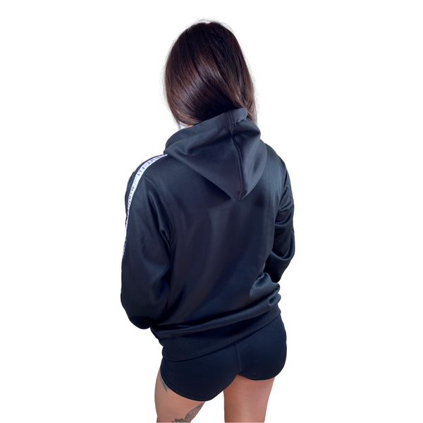 Logo Hoodie in Black (Unisex) - Midnight Fit