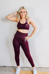 Midnight Seamless Leggings Burgundy - Midnight Fit