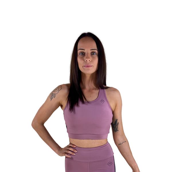 Collide Longline Crop - Blush - Midnight Fit