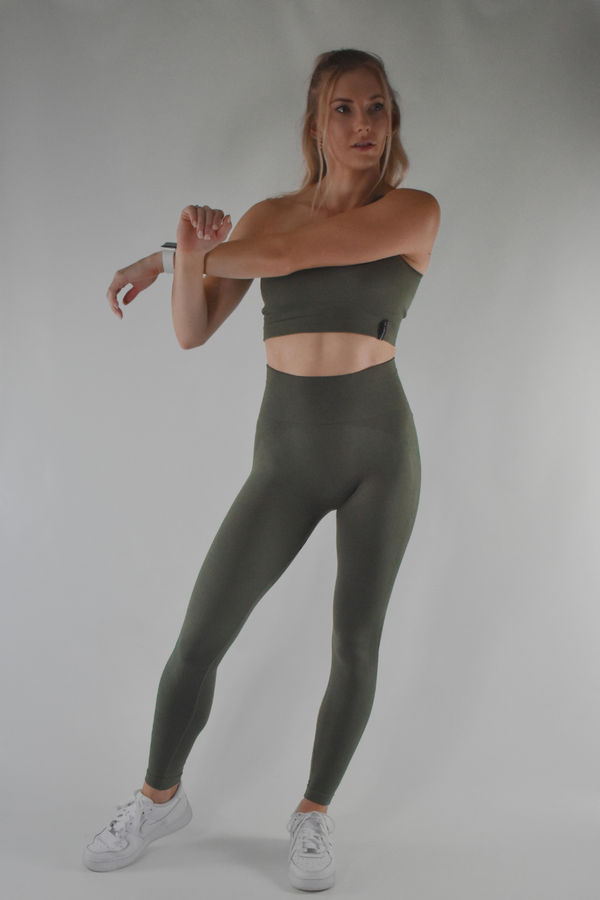 Fearless v2 Leggings - Olive - Midnight Fit