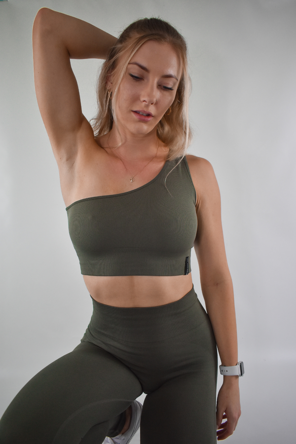 Fearless Crop v2 - Olive - Midnight Fit