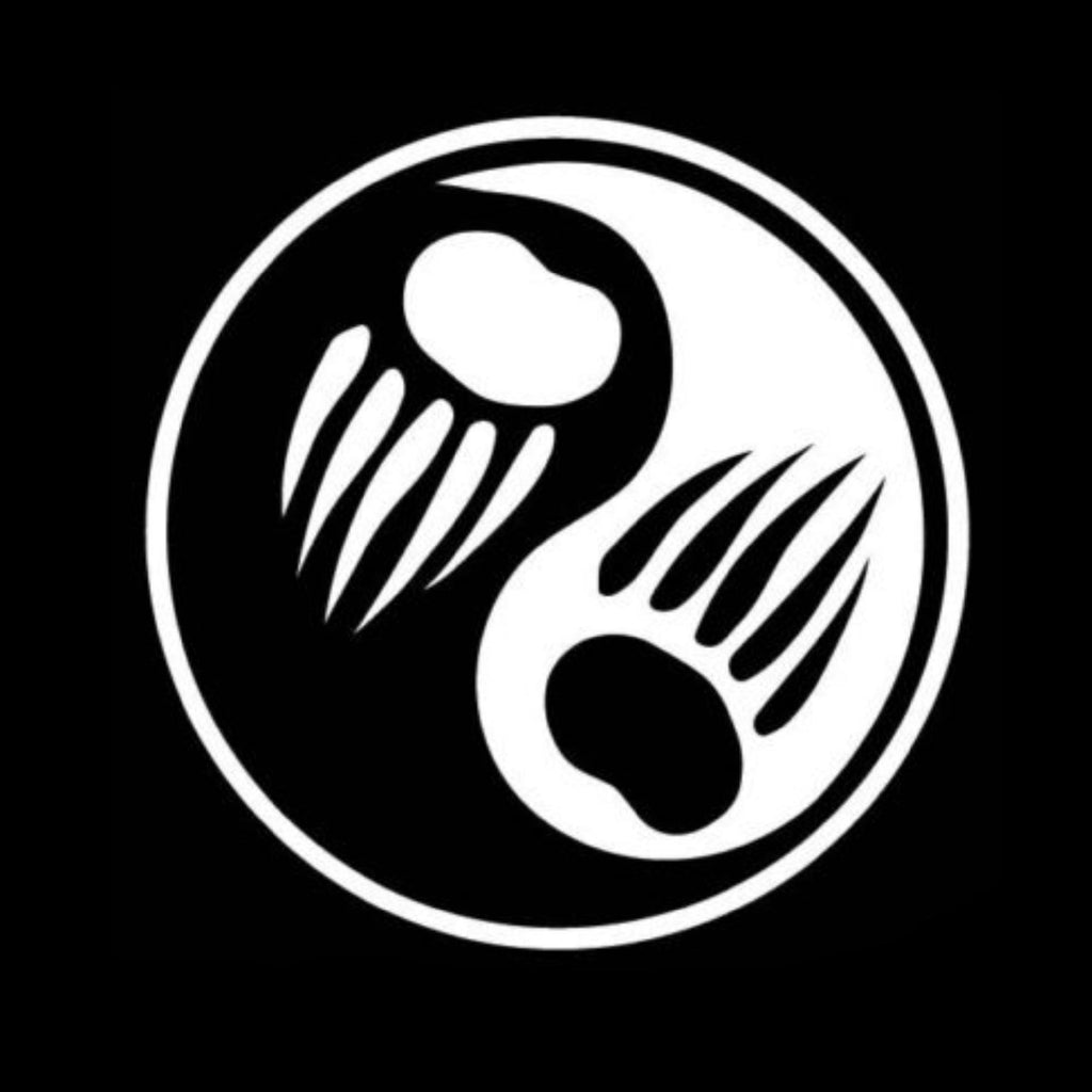 Bear Ying Yang Window Decal