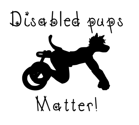 Disabled Pups Matter by featured artist CyberPsych Artistry