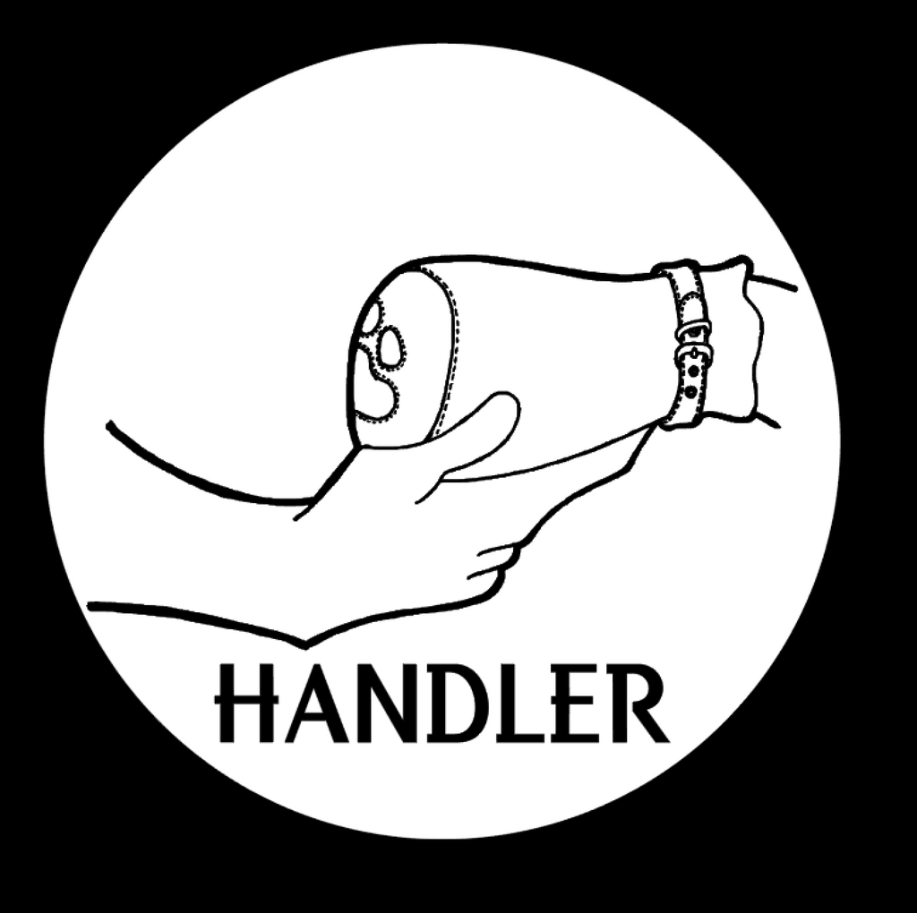 Handler paws by featured artist Pup Tana