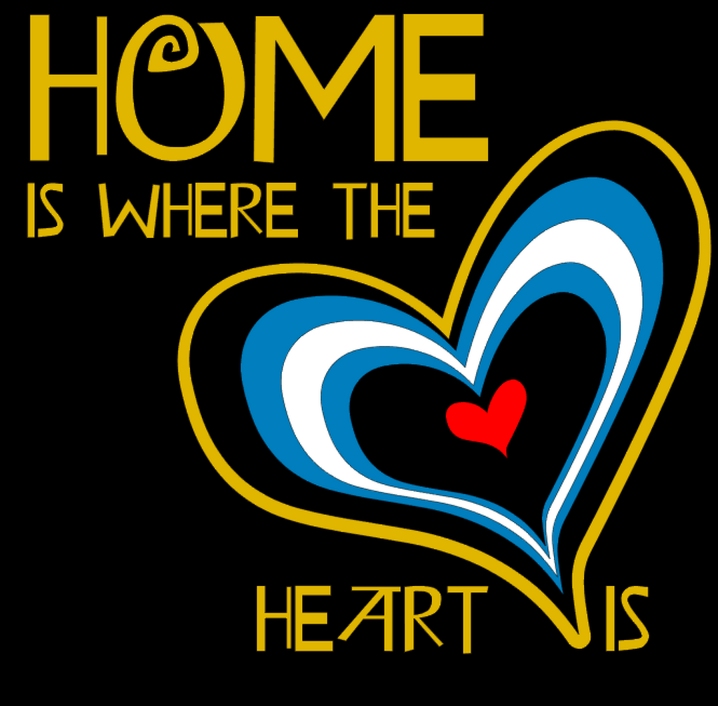 Home is where the heart is Fundraiser shirt for Daddy Alex and girl panda