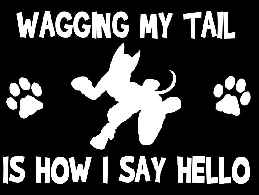 Wagging My Tail Window Decal