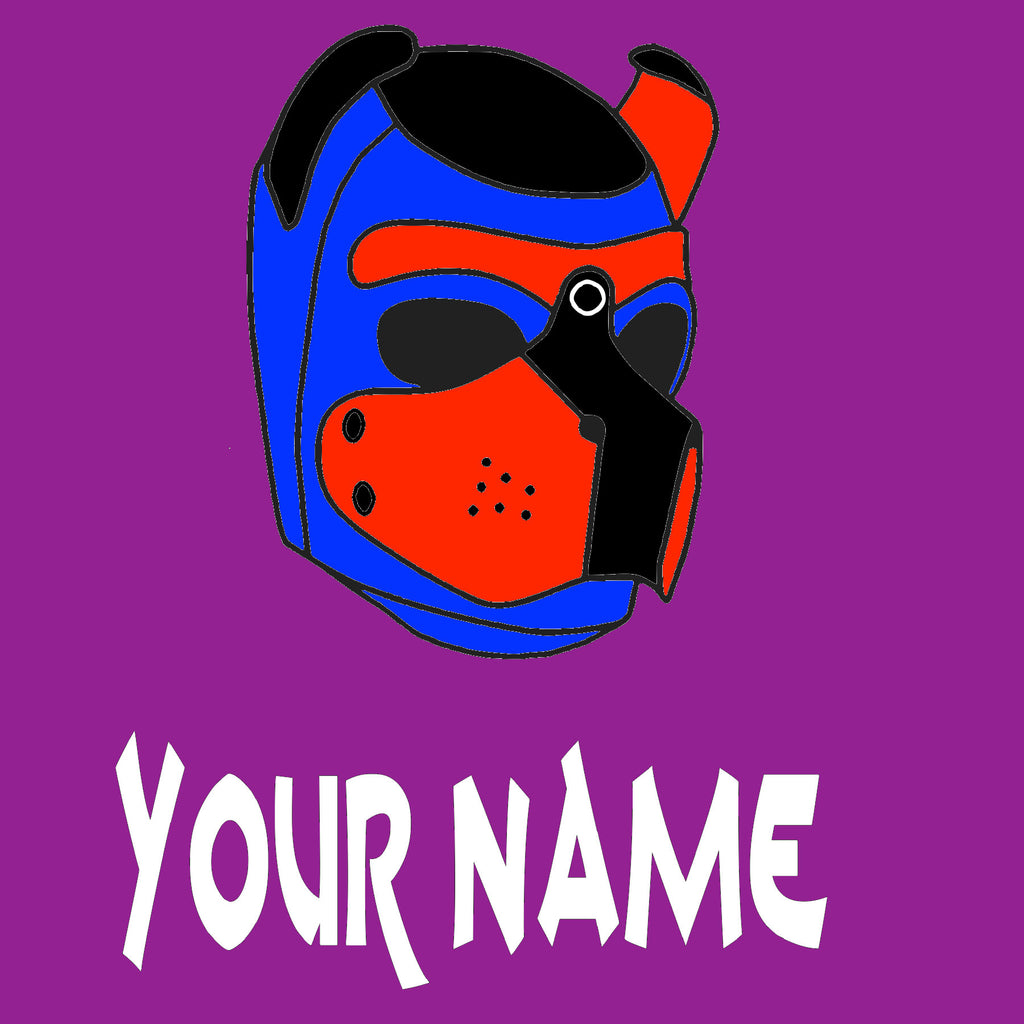 Puppy Hood in custom color with custom words