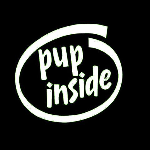 Puppy Inside Window Decal