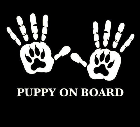 Puppy on Board Window Decal