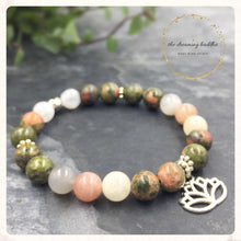 Fertility Gemstone Pregnancy Bracelet, Unakite Moonstone Gemstone