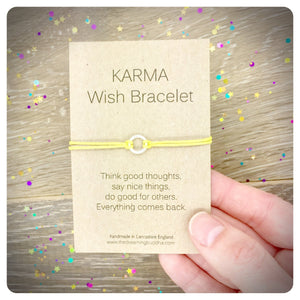 Good Karma Wish Bracelet, Karma Friendship Bracelet