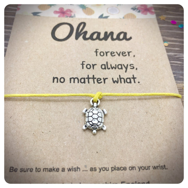 Ohana Wish Bracelet, Sea Turtle Wishlet