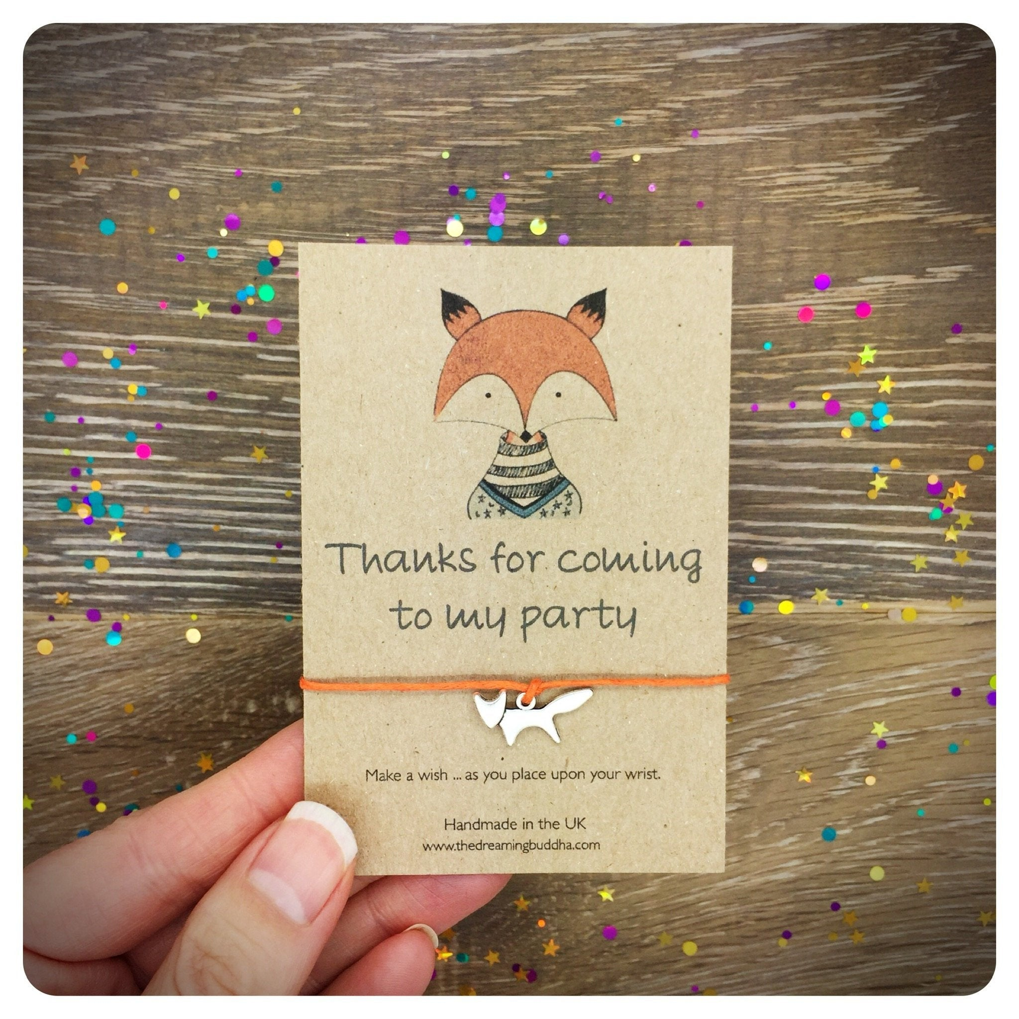 Fox Thank You Party Favours