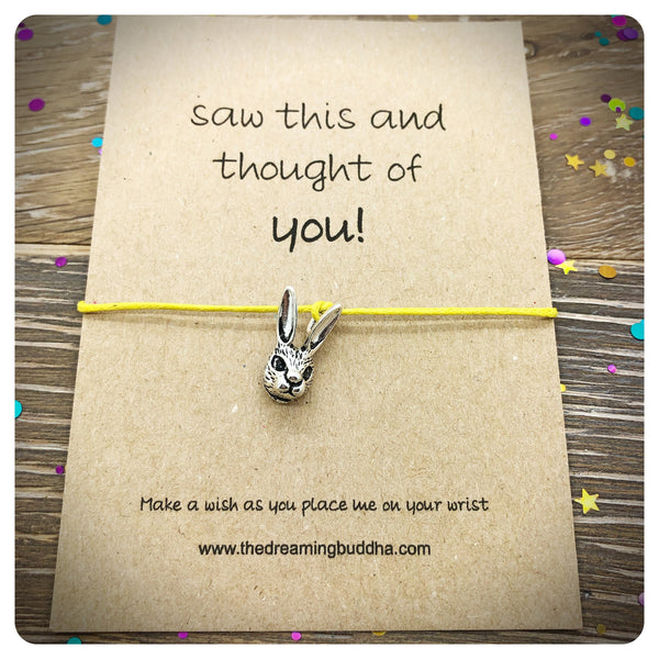 3 x Easter Rabbit Wish Bracelet, Saw this and thought of you