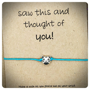 Cat Wish Bracelet, Cat Lover Gift