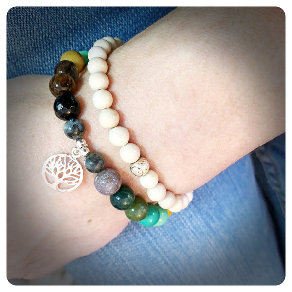 Grounding & Anxiety Bracelet, Tree of Life Bracelet