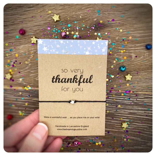 So Thankful For You Wish Bracelet