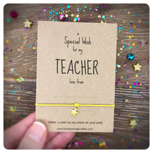 A Special Wish For My Teacher Bracelet