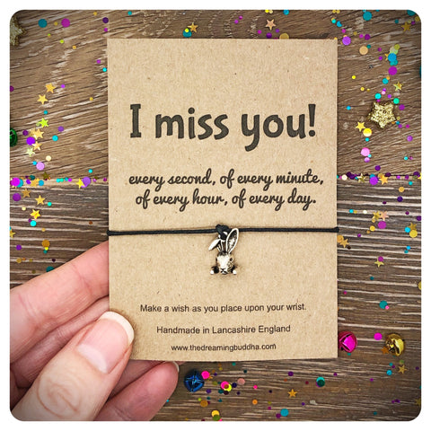 I Miss You Wish Bracelet, Missing You Friendship Gift