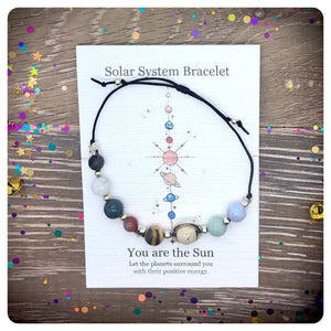 Solar System Gemstone Crystal Adjustable Bracelet