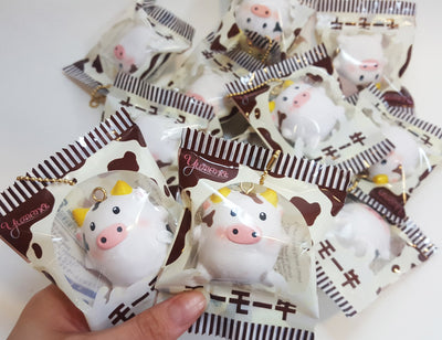 RARE Kawaii Yumeno Mini Cow Squishy