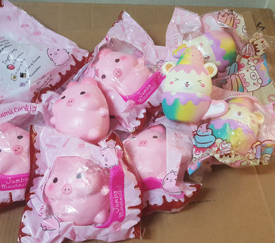 DEFECT CreamiiCandy Jumbo Marshmelli Piggy Squishy / Yummiibear Cup Squishy NO REFUND