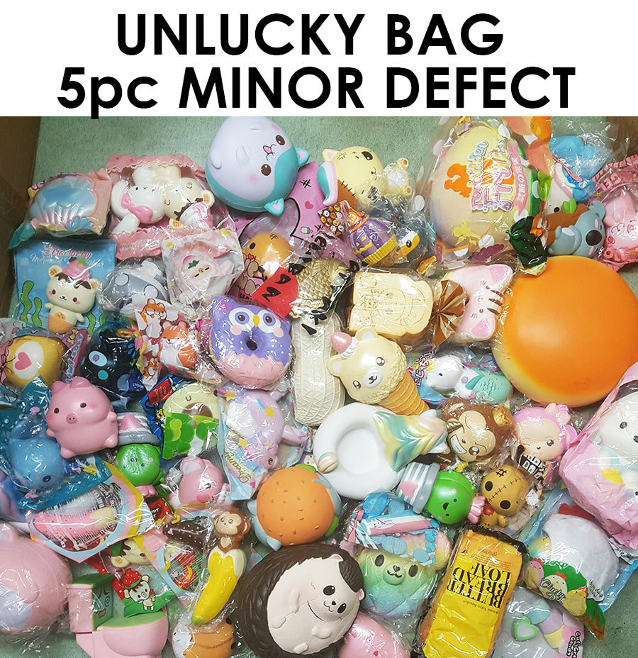 2d08d595ef UNLUCKY BAG - DEFECT Licensed Squishy Discount Lucky Grab Bag NO REFUND