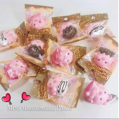 SUPER RARE Puni Maru CreamiiCandy Mini Dipped Marshmellii Piggy Pig Squishy LAST FEW PC